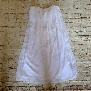 Venus white strapless dress